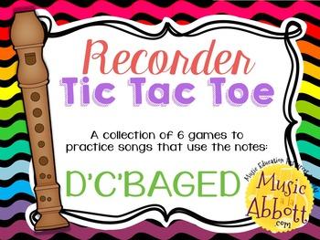 Recorder Tic Tac Toe, Song Edition: D'C'BAG