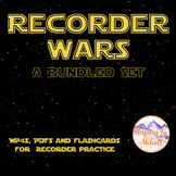 Recorder Wars {A Bundled Set of MP4s, PDFs & Flashcards fo