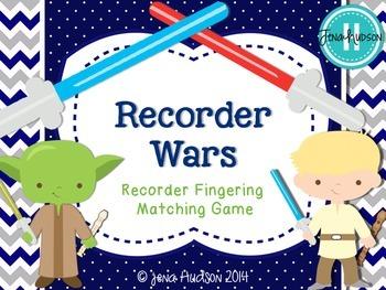 Recorder Wars ~ Recorder Fingering Matching