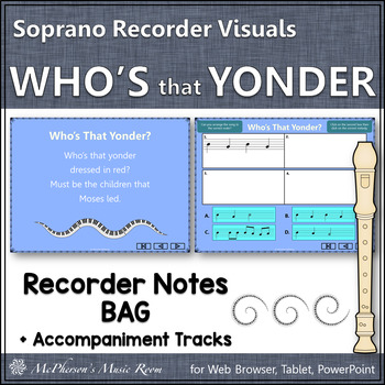 """Recorder Song """"Who's That Yonder"""" (Notes BAG) - soprano recorder visuals"""