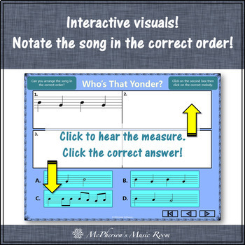 Soprano Recorder BAG Song ~ Who's That Yonder Interactive Visuals {Notes BAG}