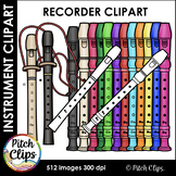 Recorder clipart (clipart) 2 styles, and Recorder Fingerin
