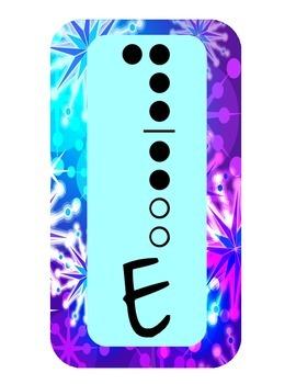 Recorder fingering chart {firework star theme]