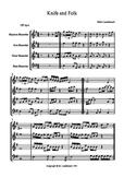 Recorder music-Knife and Folk- an original piece for 4 par