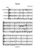 "Recorder music ""Sinage"" an original composition for 4 part ensemble."