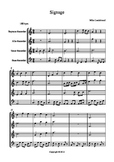 """Recorder music """"Sinage"""" an original composition for 4 part"""