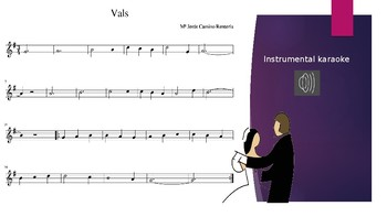 """Vals"" Recorder sheet music & instrumental karaoke"