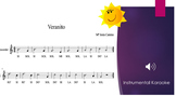 """Veranito"" Recorder sheet music & instrumental karaoke"