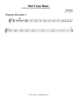 "Recorders and Harmony Lesson - ""Hot Cross Buns"""