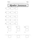 Recording Addition & Subtraction Number Sentences