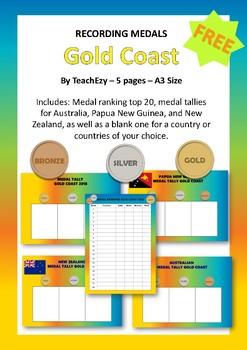 Recording Medals Gold Coast Games 2018 FREE
