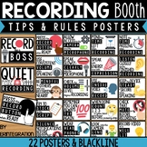 Recording Tips Posters for Bulletin Boards, Booths, and Corners