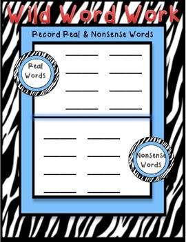 Recording Real and Nonsense Words