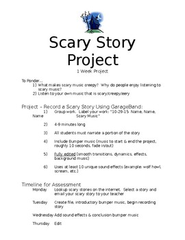 Recording - Scary Story