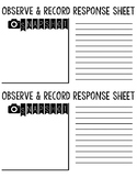 Recording Sheet-- Exit Ticket