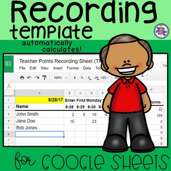Recording Sheet Template for Google Sheets
