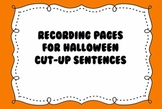 Recording Sheet for Halloween Cut-Up Sentences