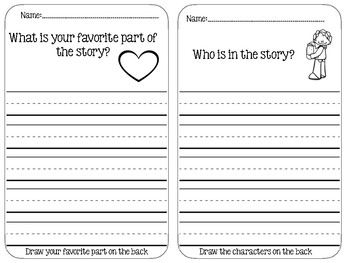 Recording Sheets for QR Code Read Alouds