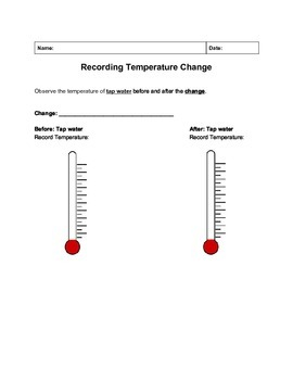 Recording Temperature Change