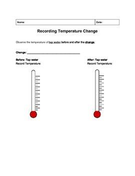 Recording Temperature Change