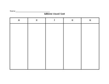 Recording Vowel Sheet