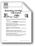 Recording and Organizing Information: Main Ideas and Details