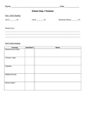 Recording form for Wilson Step 1 Test