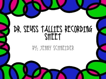 Recording sheet for Silly Tallies