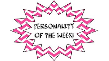 Personality of the Week