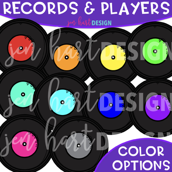 Records and Record Players - Build-a-Center {Jen Hart Clip Art}