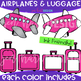 Airplanes and Luggage - Build-a-Center {Jen Hart Clip Art}