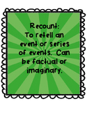 Recount Unit with Culminating Task