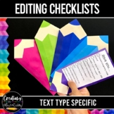 Recount, Narrative, Persuasive and Report Writing Editing Checklists