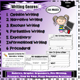 Recount, Persuasive, Opinion, Informational, Narrative, Procedural Writing Units