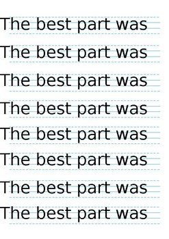 Recount Sentence starters