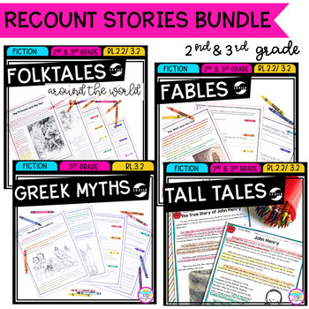 Recount Stories Bundle- Fables, Tall Tales, Myths, Folktales RL.2.2 & RL.3.2