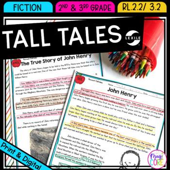 Recount Tall Tales- RL.2.2 & RL.3.2