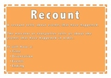 Recount Text Type Poster