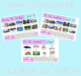 Recount Writing Bundle - Weekend and Holiday Recount Guide and Displays