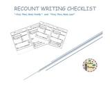 Recount Writing Checklist