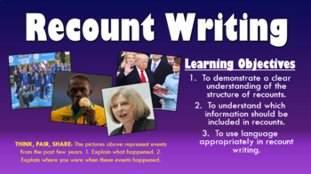 Recount Writing! (Double Lesson!)