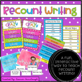 Recount Writing Pack