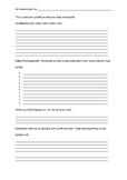 Recount Writing Plan