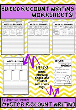 Recount Writing Planners 2