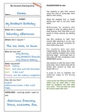 Recount Writing - Planning Strip