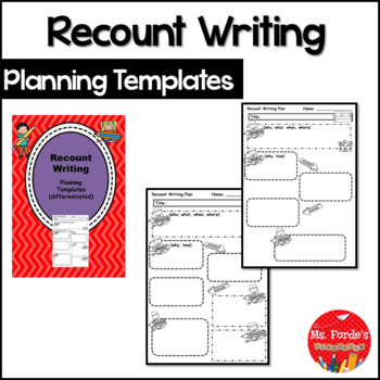Recount Writing Planning templates