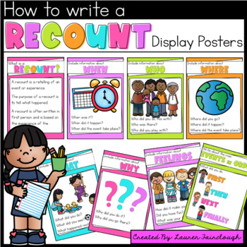 Recount Writing Poster Prompts
