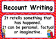 Recount Writing Poster Set