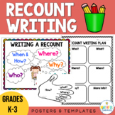 Recount Writing Posters and Templates