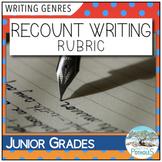 Recount Writing Rubric / Success Criteria / Assessment